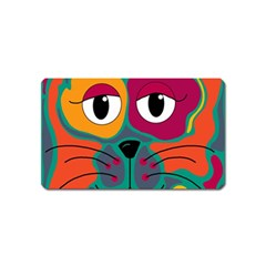 Colorful cat 2  Magnet (Name Card)