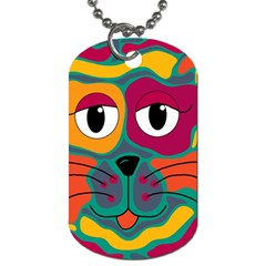 Colorful cat 2  Dog Tag (One Side)