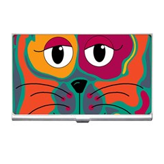 Colorful cat 2  Business Card Holders