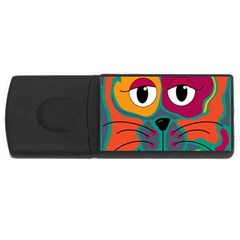 Colorful cat 2  USB Flash Drive Rectangular (2 GB)
