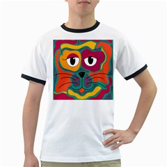 Colorful cat 2  Ringer T-Shirts