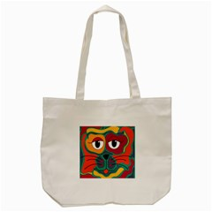 Colorful cat 2  Tote Bag (Cream)