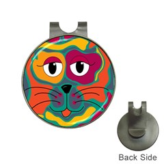 Colorful cat 2  Hat Clips with Golf Markers