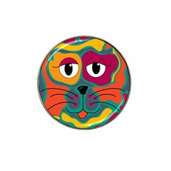 Colorful cat 2  Hat Clip Ball Marker