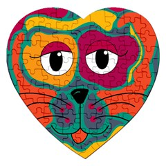Colorful cat 2  Jigsaw Puzzle (Heart)