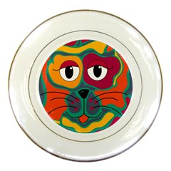 Colorful cat 2  Porcelain Plates