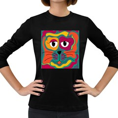 Colorful cat 2  Women s Long Sleeve Dark T-Shirts