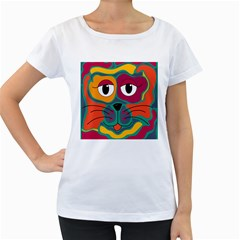 Colorful cat 2  Women s Loose-Fit T-Shirt (White)