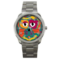 Colorful cat 2  Sport Metal Watch
