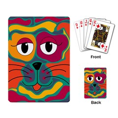 Colorful cat 2  Playing Card