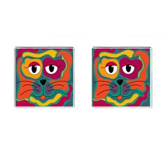 Colorful cat 2  Cufflinks (Square)