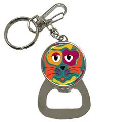 Colorful cat 2  Button Necklaces