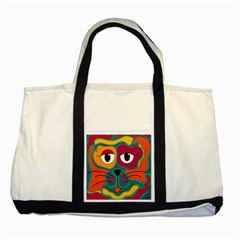 Colorful cat 2  Two Tone Tote Bag