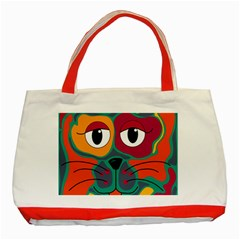 Colorful cat 2  Classic Tote Bag (Red)