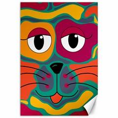 Colorful cat 2  Canvas 12  x 18