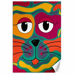Colorful cat 2  Canvas 20  x 30