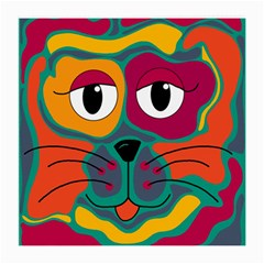 Colorful cat 2  Medium Glasses Cloth