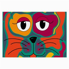 Colorful cat 2  Large Glasses Cloth