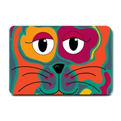Colorful cat 2  Small Doormat