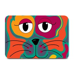 Colorful cat 2  Plate Mats