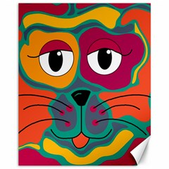 Colorful cat 2  Canvas 11  x 14