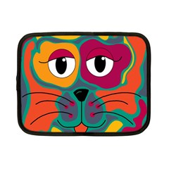 Colorful cat 2  Netbook Case (Small)