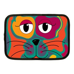 Colorful cat 2  Netbook Case (Medium)