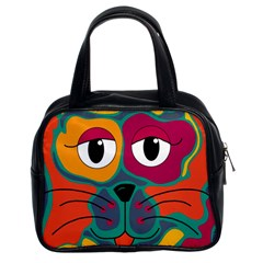 Colorful cat 2  Classic Handbags (2 Sides)