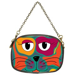 Colorful cat 2  Chain Purses (One Side)