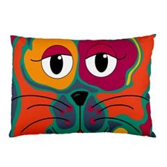 Colorful cat 2  Pillow Case