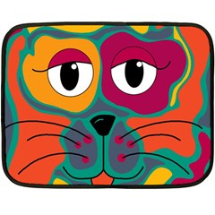 Colorful cat 2  Double Sided Fleece Blanket (Mini)
