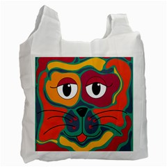 Colorful cat 2  Recycle Bag (Two Side)