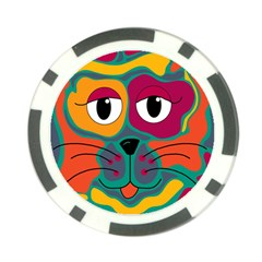 Colorful cat 2  Poker Chip Card Guards (10 pack)