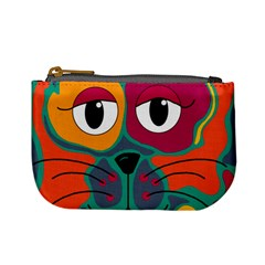 Colorful cat 2  Mini Coin Purses