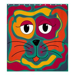 Colorful cat 2  Shower Curtain 66  x 72  (Large)