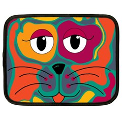 Colorful cat 2  Netbook Case (XL)