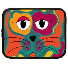 Colorful cat 2  Netbook Case (XXL)
