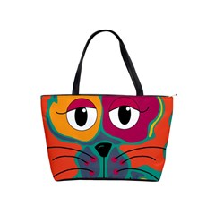 Colorful cat 2  Shoulder Handbags
