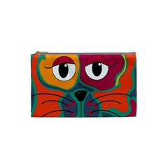 Colorful cat 2  Cosmetic Bag (Small)