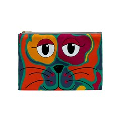 Colorful cat 2  Cosmetic Bag (Medium)
