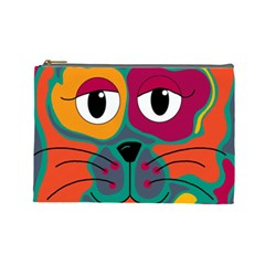 Colorful cat 2  Cosmetic Bag (Large)