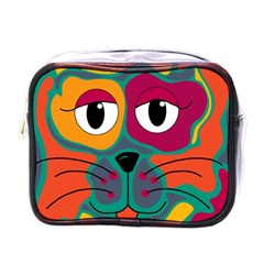 Colorful cat 2  Mini Toiletries Bags