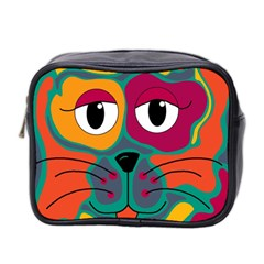 Colorful cat 2  Mini Toiletries Bag 2-Side