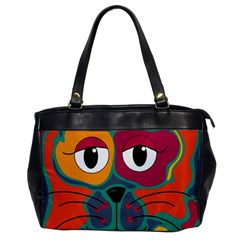 Colorful cat 2  Office Handbags