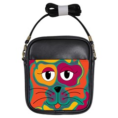 Colorful cat 2  Girls Sling Bags