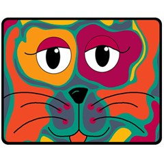 Colorful cat 2  Fleece Blanket (Medium)