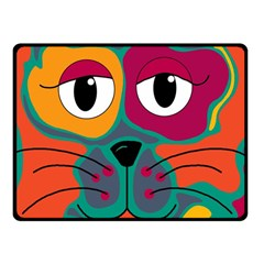 Colorful cat 2  Fleece Blanket (Small)