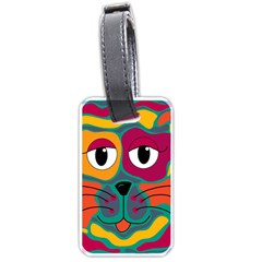 Colorful cat 2  Luggage Tags (Two Sides)