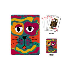 Colorful cat 2  Playing Cards (Mini)