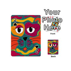 Colorful cat 2  Playing Cards 54 (Mini)